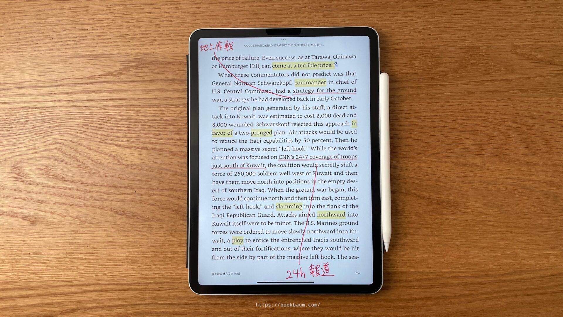Kindleなどの電子書籍に手書きメモを書き込む方法。